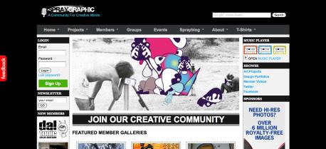 Spraygraphic Community  Creative Social Community  Creative Portfolio