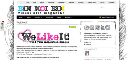 WeLikeIt! -- koikoikoi.com - Visual Arts Magazine, graphic design, illustration, photography, interviews, inspiration, tutorials